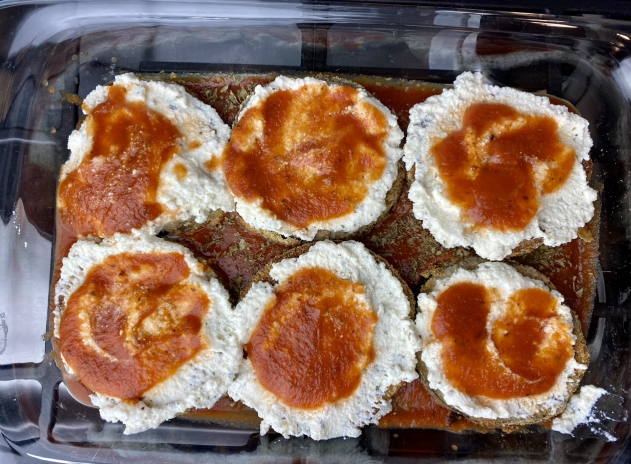 How to make layers, baked eggplant parmesan
