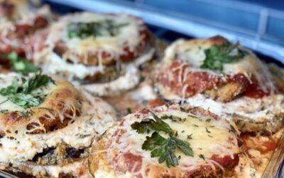 Easy, Healthier Baked Eggplant Parmesan
